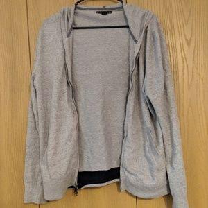 Banana Republic medium gray zip up hoodie